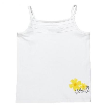 Tílko Bóboli bílé se žlutou květinou