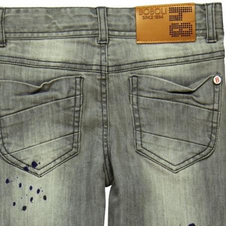 Jeans Bóboli šedé Ink