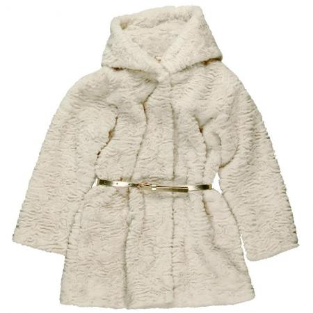 Kabát zimní Bóboli zlatý s páskem