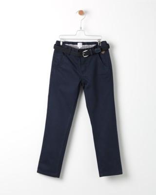 Kalhoty Losan modré s páskem