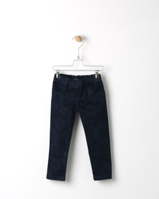 Kalhoty Losan tmavě modré se vzorem