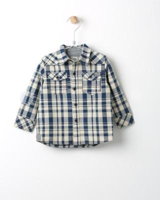 Košile s dlouhým rukávem Losan kostkovaná modrá