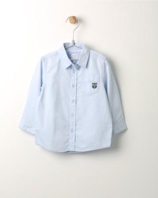 Košile s dlouhým rukávem Losan světle modrá s výšivkou