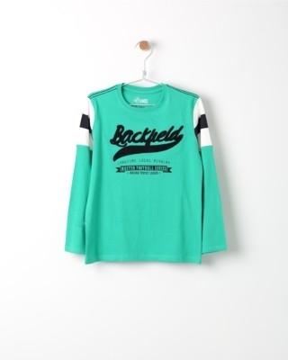 Tričko s dlouhým rukávem Losan zelené s potiskem Back