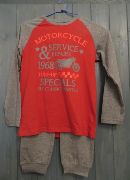 Pyžamo Losan s potiskem Motorcycle oranžové