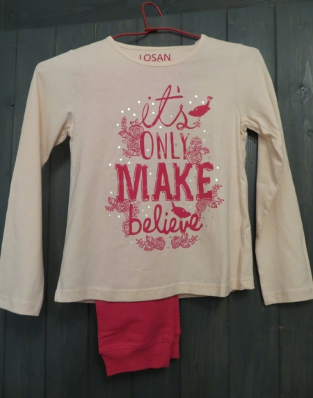 Pyžamo Losan s potiskem Make believe růžové