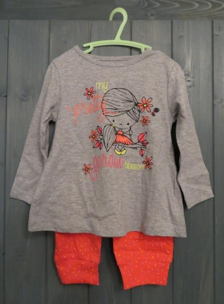 Pyžamo Losan s potiskem Garden oranžové