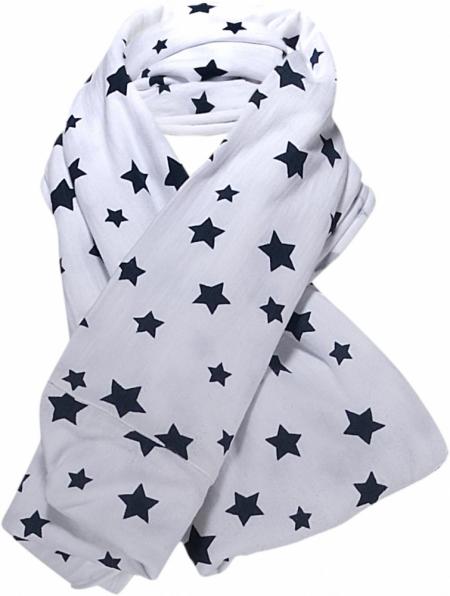 Šála Blue Effect bílá s hvězdami