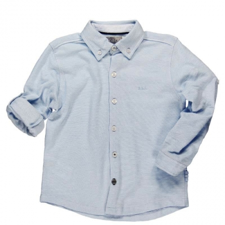 Košile s dlouhým rukávem Bóboli modrá Oxford