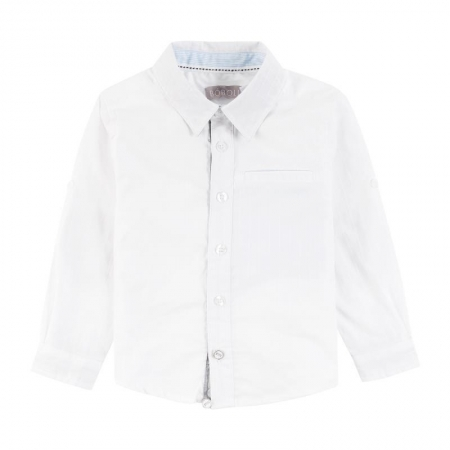Košile s dlouhým rukávem Bóboli bílá Elbow