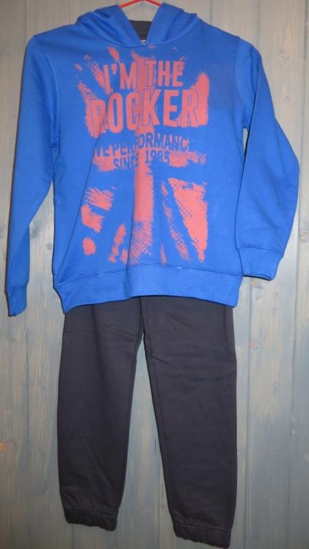 Tepláková souprava Losan s potiskem Rocker modrá