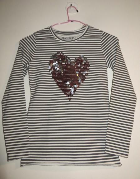 Tričko s dlouhým rukávem Blue Effect se srdcem
