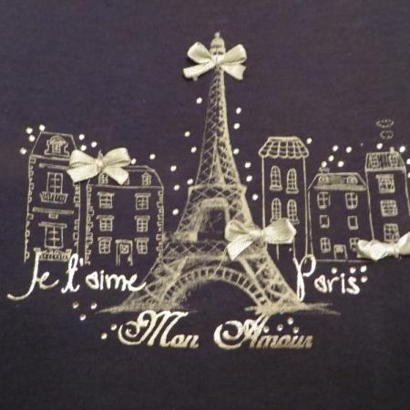 Set triček s dlouhým rukávem Losan šedé a modré s potiskem obchodu a Paříže
