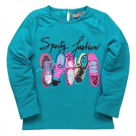 Tričko s dlouhým rukávem Bóboli modré Sporty fashion