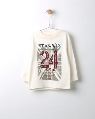 Tričko s dlouhým rukávem Losan béžové s potiskem 24