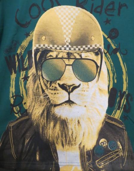 Set tričkek s dlouhým rukávem Losan modré a zelené s potiskem