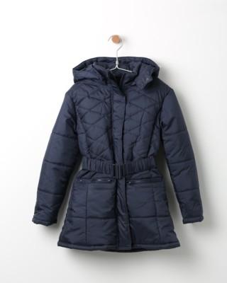 Zimní bunda Losan tmavě modrá s páskem