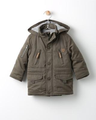 Zimní bunda Losan hnědá s kapucí